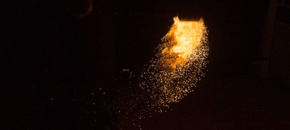 Gold Flow by TheFlowFX.com on Poi. Photo by Spinferno Fire and Photography.