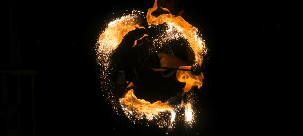 Silver Comet by TheFlowFX.com on Dragonstaff. Photo by Spinferno Fire and Photography.