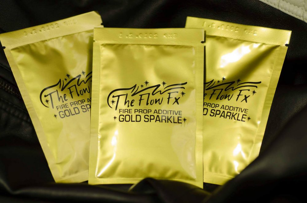 Gold Sparkle packets available at theflowfx.com